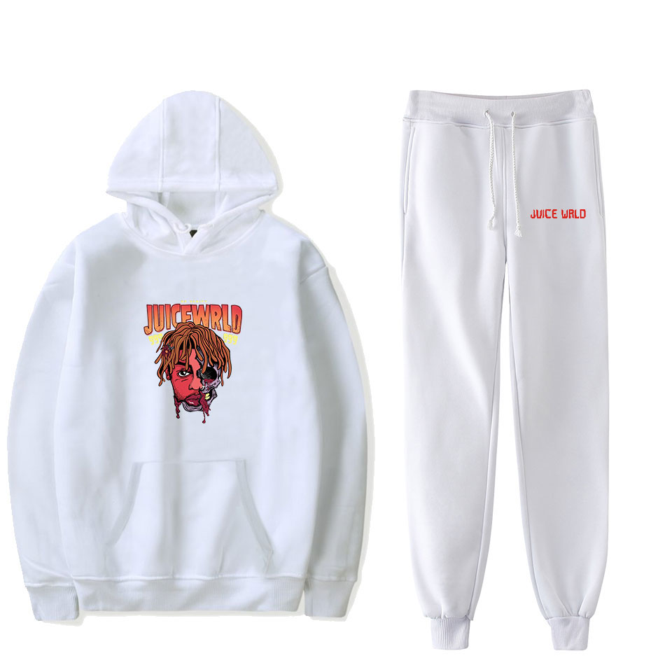 Juice Wrld Hooded And Pant Set Hoodies And Sweatpants Casual Two Piece Set Hooded Women/men Clothes Plus Size 4XL