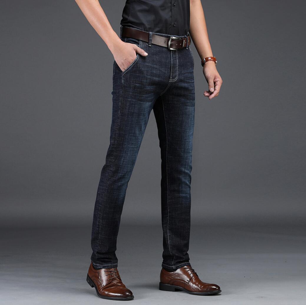 2020 Hot Straight Men's Pants Em8 Youth Stretch Casual Men's Waist Long Pants Men's Jeans XKJ113-30-41