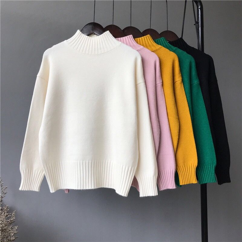 2019 Autumn Winter women sweater ladies long sleeve boat neck slim knitted pullovers top femme pull tight shirts jumper NS9101(China)