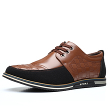 2021 New Summer Men Leather Casual Shoes Luxury Brand Breathable Casual Dress Shoes Fashion Outdoor Lightweight Walking Shoes
