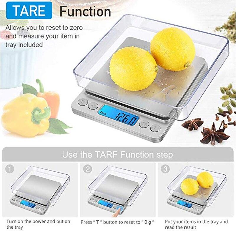 Точные цифровые весы 0,01 г/0,1 г с ЖК-дисплеем, электронные мини-весы 500 г/3000 г, весы для взвешивания чая и выпечки-4