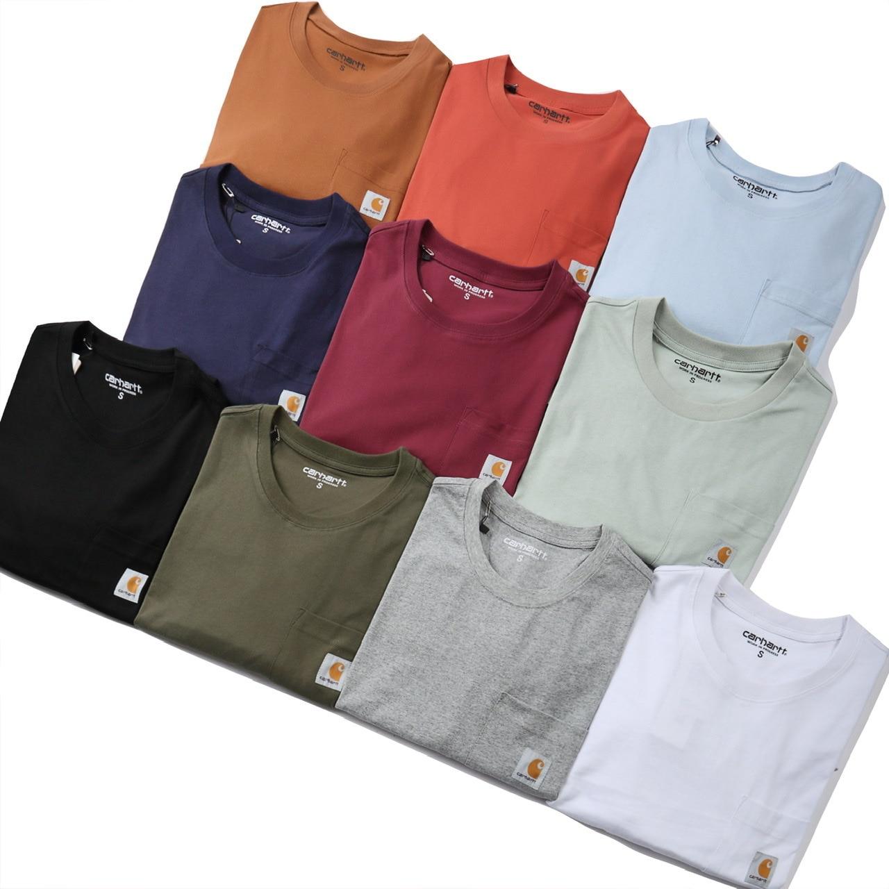 Новинка 2021 Модная брендовая классическая мужская и женская однотонная Повседневная футболка из чистого хлопка с длинными рукавами рубашка|Футболки|   | АлиЭкспресс