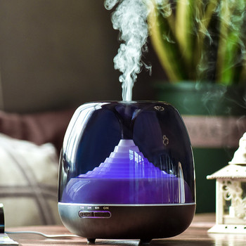 Mute Electric Incense Burner Portable Black Ultrasonic Air Humidifier Bedroom Incense Holder Home Smell Aroma Oil Burner MM60XXL