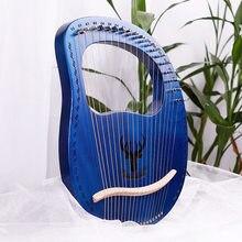 Piano pequeño de 19 cuerdas Leia para principiantes, instrumento musical portátil y fácil de aprender