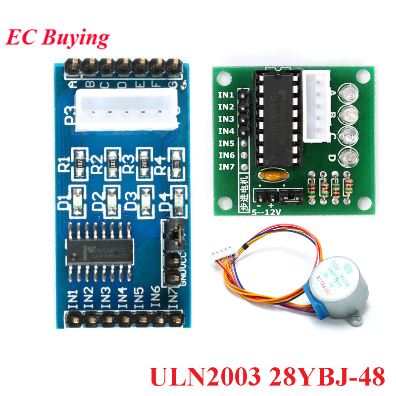 ULN2003 Stepper Motor Driver Board Module 28YBJ-48 28BYJ48 DC <font><b>5V</b></font> For Arduino 4 Phase Gear Stepper Motor AVR <font><b>SMD</b></font> Electronic DIY image