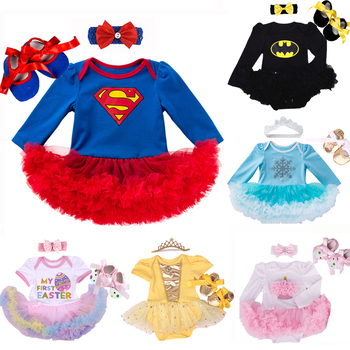 Baby Clothes Superman costume for Baby Infant Party Dress Tutus Newborn Jumpsuit Bebe Romper Baby Girl Clothing Birthday Gift 1
