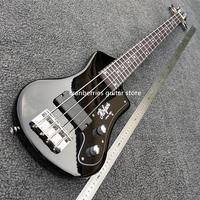 IN STOCK,TOP QUALITY,mini 4 strings bass guitar with soft bag,horfner model, black electric guitar,free shipping