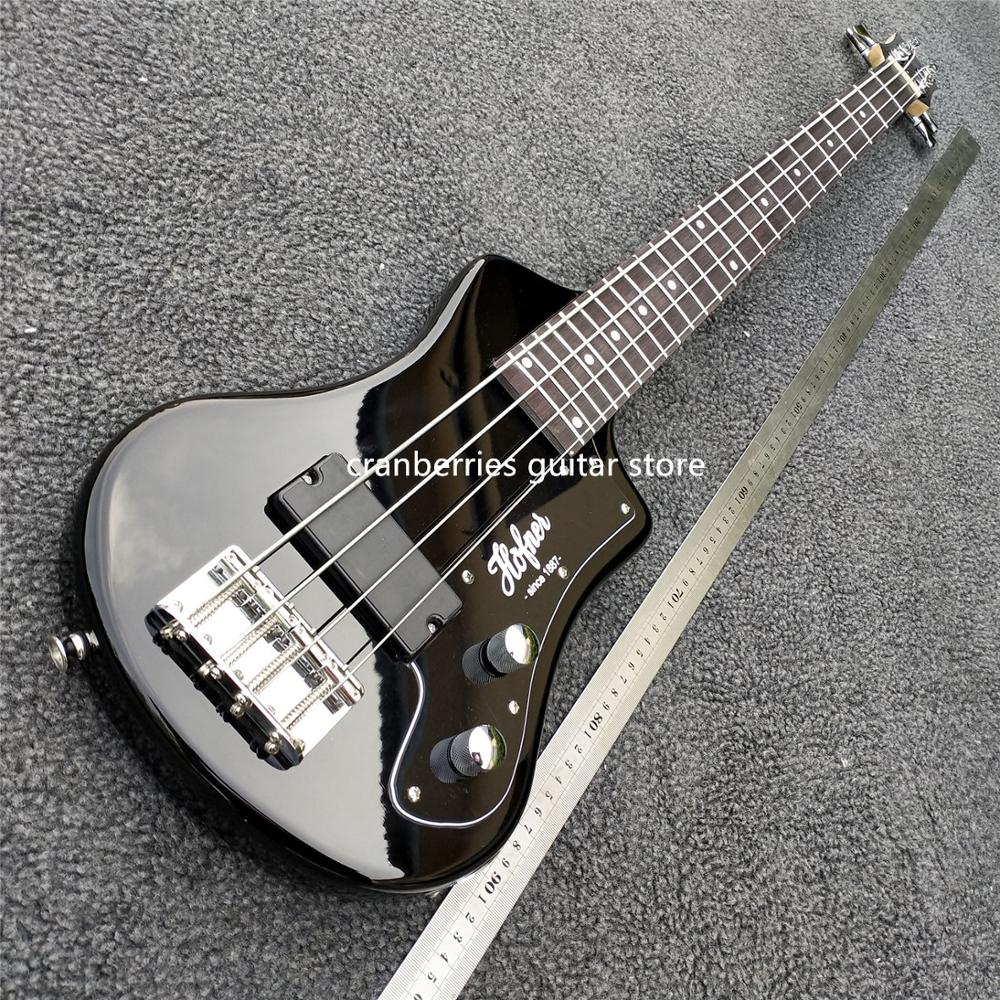 IN STOCK,TOP QUALITY,mini 4 Strings Bass Guitar With Soft Bag,horfner Model,two Color To Select Electric Guitar,free Shipping