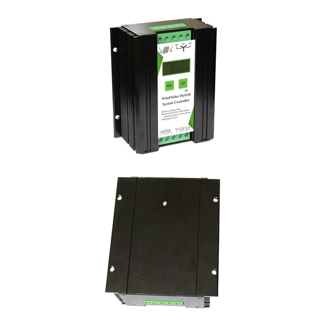 12V 24V 600W LCD Screen Equipment Accessories Wind Solar Home Hybrid Controller Electrical Automatic Charge Aluminum Alloy Power 6