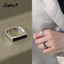 Kinel подлинное 925 пробы Серебряное Кольцо женское простое