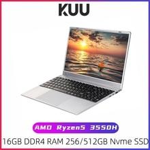 KUU G2 Gaming Laptop AMD Ryzen5 3550H 16GB Dual channel DDR4 RAM 256/512GB PCIE SSD 15.6-inch IPS Screen Office/Gaming Notebook