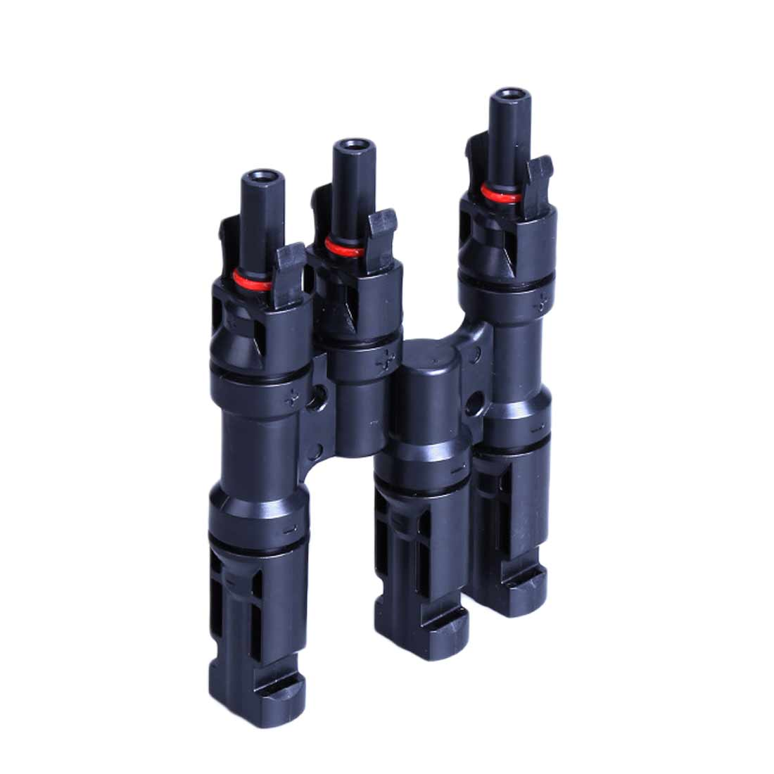 Pair of MC4 T-branch cable connectors //plugs for solar panels and PV systems