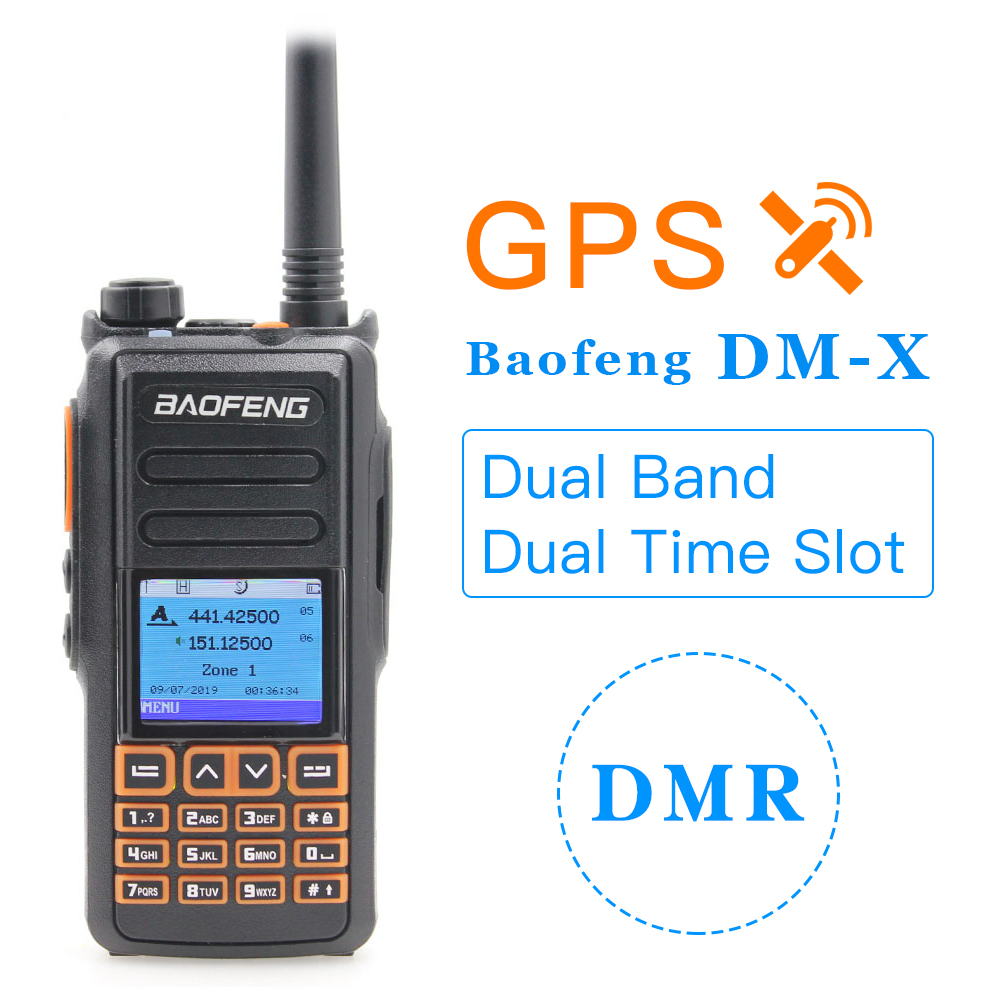 Baofeng Radio DM-X 2019 NEW GPS Dual Band Tier 1&2 Tier II Dual Time Slot DMR Digital Analog Walkie Talkie