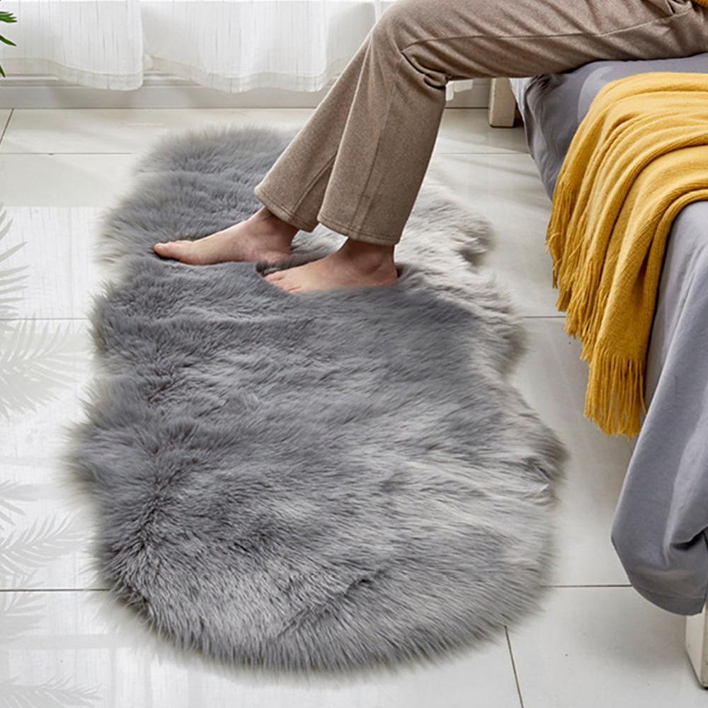 Shearling falso Sofá Tapete do Assoalho Tapete de Lã Tapete Sala de estar Quarto Cabeceira Almofada Janela Bay Otomano Cobertor