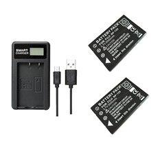 2 stks 2000 mAh NP 120 NP 120 Batterij met oplader voor Fuji NP120 Pentax DL17 Kyocera Contax BP1500 RICOH DB 43 FinePix F11 M603