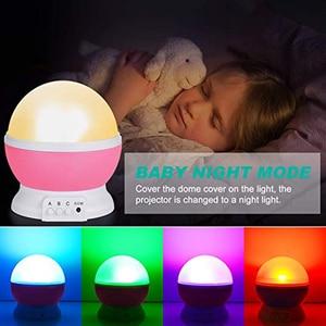 Image 5 - 3D Star Night Light Projector Lamp Letras Led Kids Starry Night Baby Lamps For Children lamparas moon light nightlight infantil