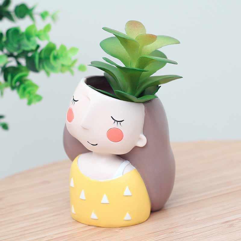 4 Pcs/set Bunga Planter Gaya Eropa Succulent Tanaman Planter Pot Bonsai Mini Kaktus Pot Bunga Dekorasi Rumah Kerajinan