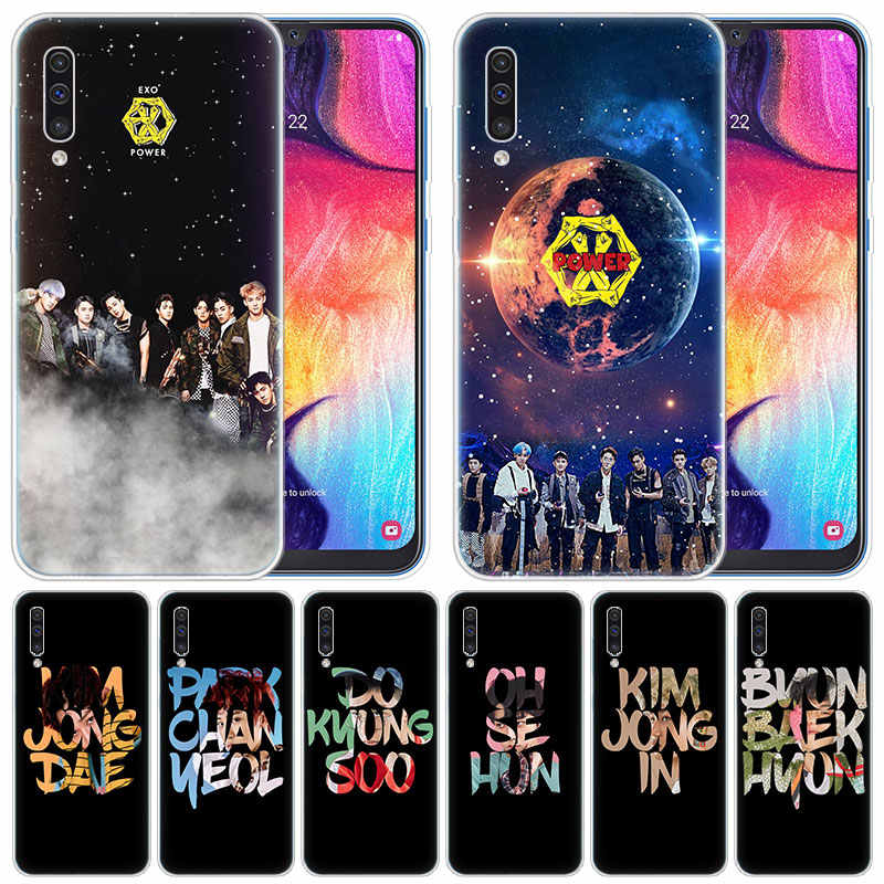 luxury Silicone Case Kpop exo for Samsung Galaxy A50 A70 A80 A40 A30 A20 A10 A20E A2 CORE A9 A8 A7 A6 Plus 2018 Fashion Cover