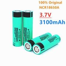 Batería de iones de litio recargable para linterna, 100% NCR18650A, 3100mAh, 3,7 V, 18650, Original