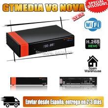 Original gtmedia v8 nova hd 1080p atualizado gtmedia v8x DVB-S2 h.265 gt media v8 honra construído em wifi nenhum aplicativo