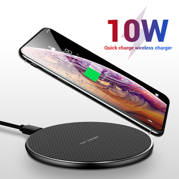 10W Qi Wireless Charger For iPhone 8 X XR XS Max Fast Wireless Charging Charger Pad for Samsung S9 S8 Note 8 9 S7 Phone holder