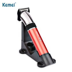 KEMEI zmywalny elektryczna maszynka do włosów profesjonalna akumulatorowa maszynka do włosów bezprzewodowa maszynka do włosów dla mężczyzn niski poziom hałasu maszynka do golenia w Trymery do włosów od AGD na