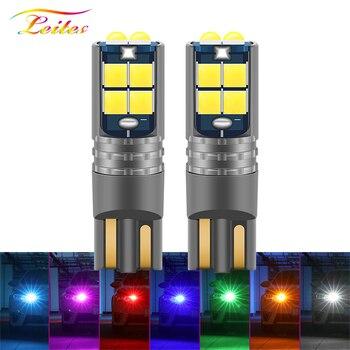 1 Uds nuevo LED T10 Canbus W5W 3030 10SMD 10W 12V-24V 194 168 Auto LED luz Interior del coche lámpara de techo de lectura Luz de liquidación