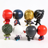 Superheroes Avengers Set of 8 Toys with Removable Heads 5