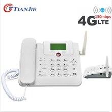 TIANJIE Cordless GSM WIFI 3G/4G SIM Card telefono fisso telefono fisso Wireless LTE/FDD Router + telefono per casa/ufficio/azienda