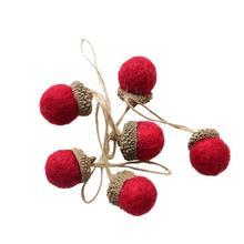 6 в 1 шарик из шерстяного войлока подвесной кулон орнамент Мини DIY Войлок ремесло для рождества Пасхи свадьбы праздника вечеринки украшения