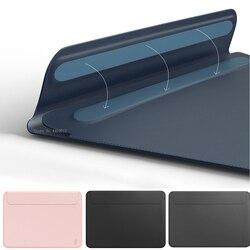 Tas Laptop untuk MacBook Touch ID Air 13 A1932 Kulit Lengan untuk Mac Buku Udara Retina Pro 11 12 16 13.3 15 Ultra-Slim Kasus Notebook