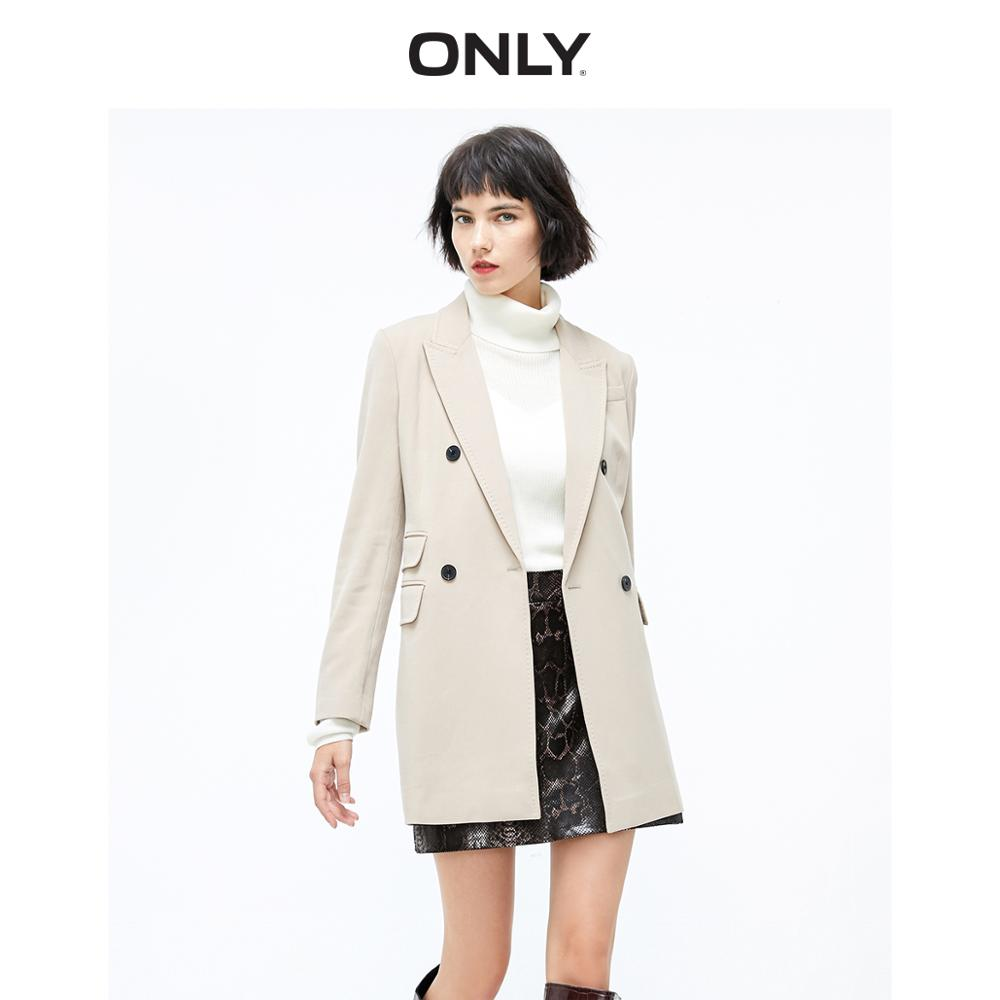 ONLY Women's  Double-breasted Mid-length Blazer | 119408502