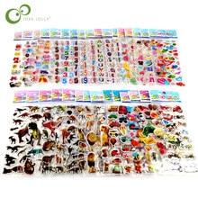 25 Sheets 3D Cartoon Stickers Waterproof Bubble PVC DIY Sticker Princess Car Girls Boys Kids Children Gifts GYH