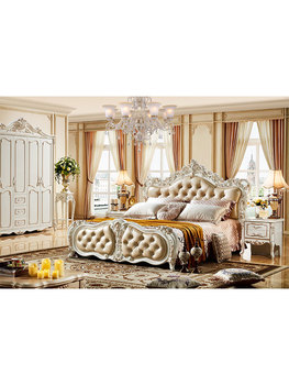 King Set Royal Bedroom Luxury Leather Headboard French Bed Furniture Buy At The Price Of 2 257 00 In Aliexpress Com Imall Com