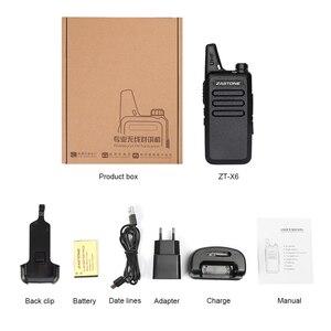 Image 5 - Zastone X6 Mini Walkie Talkie 400 470 UHF Walkie Talkie Portable Handheld Radio Comunicador Two Way Ham Radio