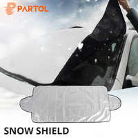 Partol Winter Universal Protective Auto Anti Snow Ice Shield Car Covers Sun Shade Cover Windshield Car Front Window Screen Cover