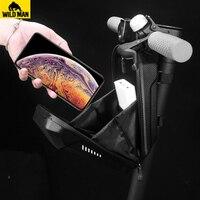 WILD MAN 방수 다기능 접이식 자전거 가방 자전거 핸들 바 Panniers EVA 하드 쉘 프론트 사이클링 가방 Accessorie