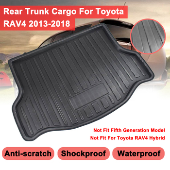 For Toyota RAV4RAVA 4 2013 - 2018 Rear Trunk Cover Matt Mat Car Tray Boot Liner Cargo Boot Liner Floor Carpet Mud Non-slip image