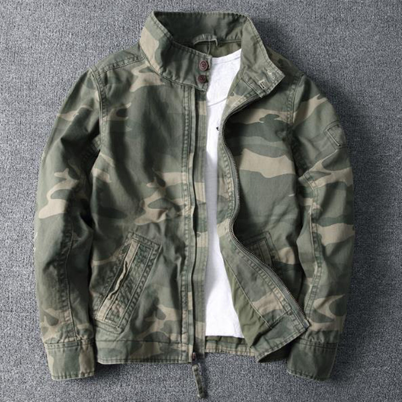 High Quality Casual Mens Outdoor Jackets 2020 New Camouflage Flight Men Coats Oversized Army Jackets Coats Brand Designer B699