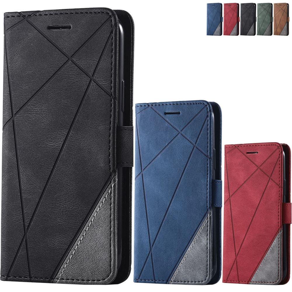 Кожаный чехол-книжка для Samsung Galaxy A01 A02S A02 A10 A10S A11 A12 A5 2017 A6 A8 Plus 2018 A520 A750 D21G