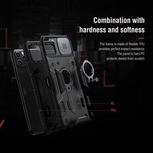 Image 5 - For IPhone 11 Pro durumda NILLKIN Lens koruma CamShield zırh vaka For iPhone 11 Pro Max ile halka Kickstand ve slayt kapağı