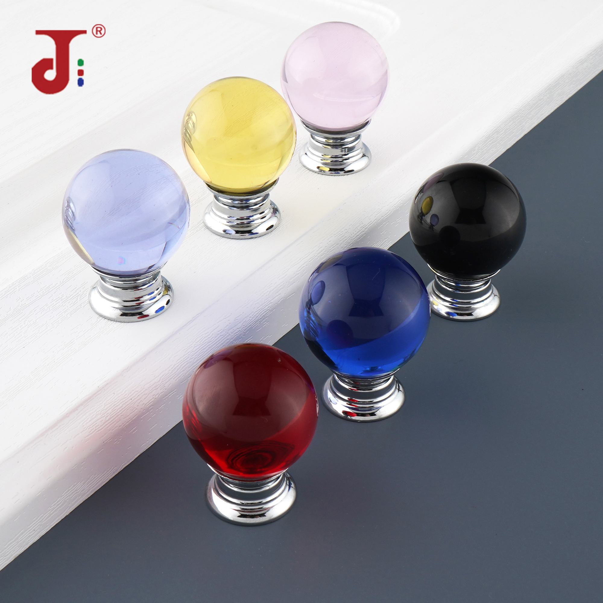 Modern Round Shape Crystal Shake Handles Concise Style Hardware Drawer Wardrobe Cabinet Handle For Furniture Crystal Door Knobs