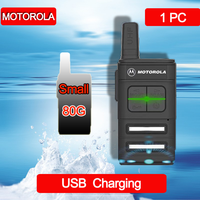 MOTOROLA Mini Walkie Talkie Outdoor Handheld Civil Portable Transceiver With Earpiece Radio Communication Intercom Talkie-walkie