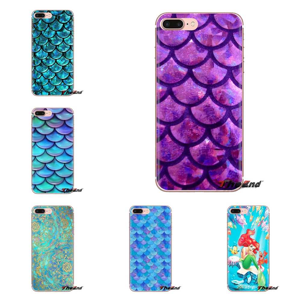Mandalas Mermaid Weegschalen Voor iPod Touch Apple iPhone 4 4S 5 5S SE 5C 6 6S 7 8 X XR XS Plus MAX Transparant Soft Shell Covers