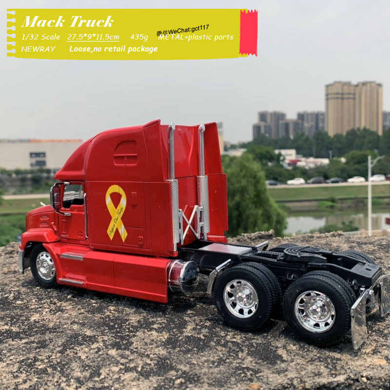 NEWRAY 1/32 Scale Truck Modell Spielzeug Mack Vision Schwere Lkw 27,5 cm Länge Diecast Metall Auto Modell Spielzeug Für Geschenk, kinder, Sammlung