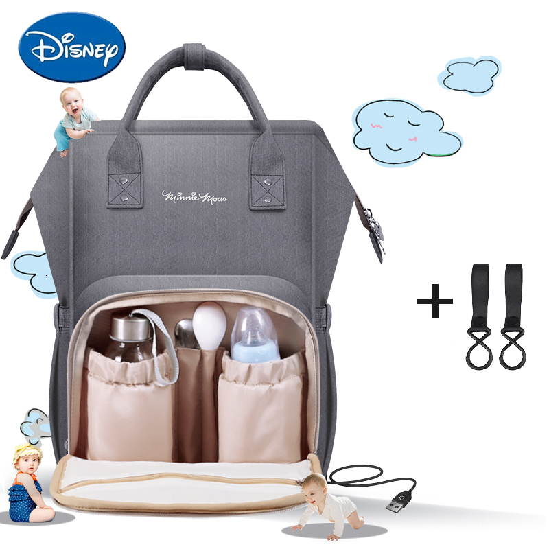 Disney Diaper Bag Mummy Maternity Nappy Bag Large Capacity Baby Care Nursing Bag Fashionable Mom's Travel Backpack Infant Stuff
