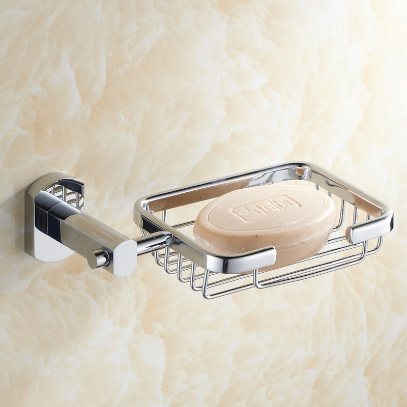 Manufacturers Direct Selling Zinc Alloy Sanitary Ware Soap Dish Toilet Wall Soap Holder Square Bathroom fragrant zao jia Cross B