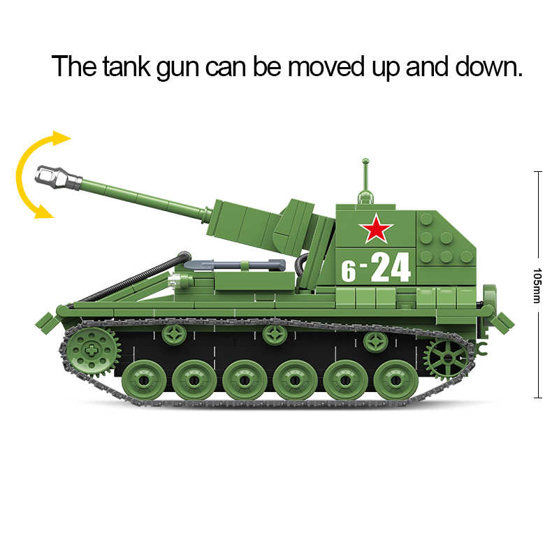 601 قطعة دبابات عسكرية الاتحاد السوفياتي روسيا SU-76M BT7 دبابات اللبنات مدينة WW2 الجندي الشرطة الجيش الطوب ألعاب أطفال هدايا