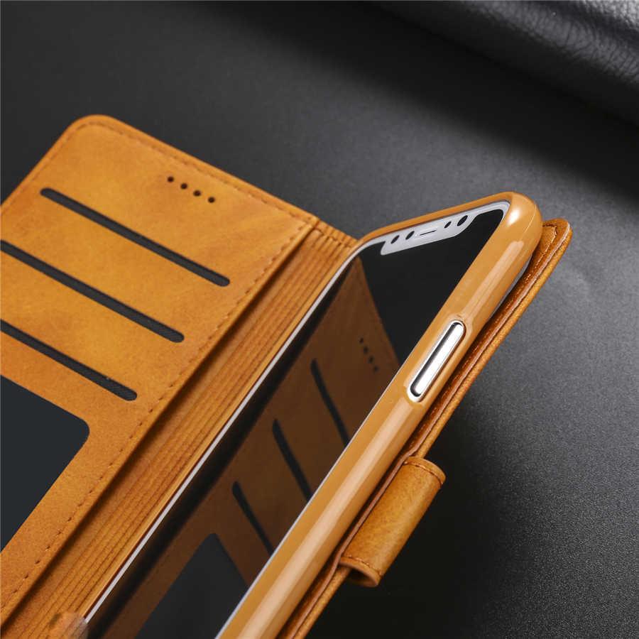 Retro Funda Case Flip Voor Iphone Xs 11 Pro Max Xr X 8 7 6S 6 Plus Telefoon Luxe leer Voor Iphone Se 5S 5 2020 Portemonnee Volledige Cover
