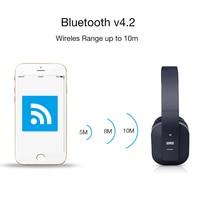 Agosto ep650 bluetooth fones de ouvido sem fio com microfone/multiponto/nfc sobre a orelha bluetooth 4.2 música estéreo aptx fone de ouvido para tv, telefone 3